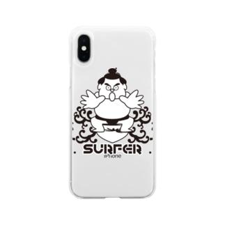KENICHIROUのわんぱくちゃんSURFER Soft Clear Smartphone Case