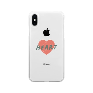 HEART Soft clear smartphone cases