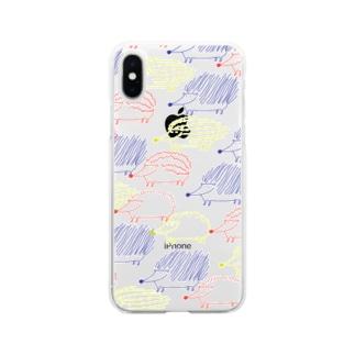 はりねずみ Soft clear smartphone cases