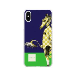 化けの皮ーキリンー Soft clear smartphone cases