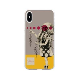 化けの皮ータコー Soft clear smartphone cases