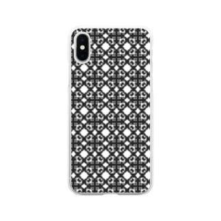 ハ音記号フラワー Soft clear smartphone cases