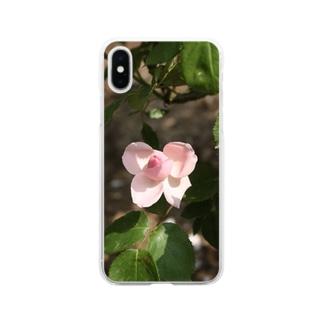 薔薇~リボン Soft clear smartphone cases