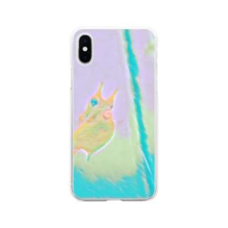 水族館の人気者 Soft clear smartphone cases