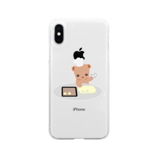 クッキーとクマさん Soft clear smartphone cases