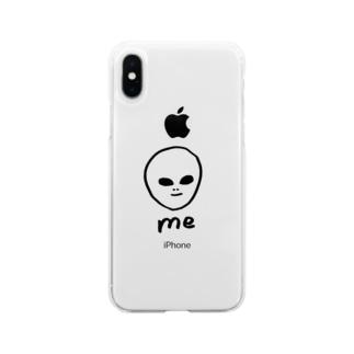 宇宙人くん Soft clear smartphone cases