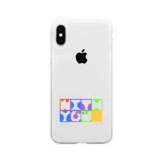 推しとwith you Soft clear smartphone cases
