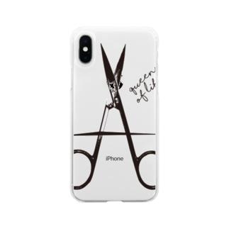 Scissors_A Soft clear smartphone cases