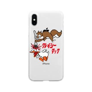 クレイジーダック Soft clear smartphone cases