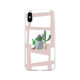 サボテン Soft clear smartphone cases