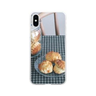 オレンジの入ったスコーン。 Soft clear smartphone cases