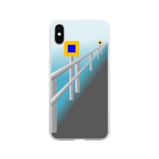 投雪禁止区域指定標示板 Soft clear smartphone cases