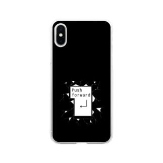 突き進め モノクロ2 Soft clear smartphone cases