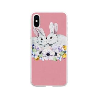 うさぎ日和 Soft clear smartphone cases