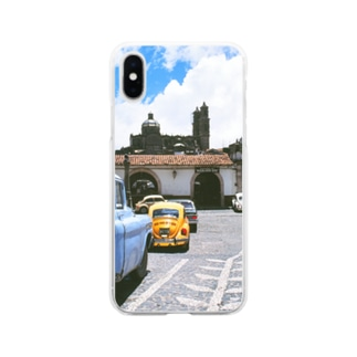 FUCHSGOLDのメキシコ:タスコの風景写真 Mexico: view of Taxco Soft clear smartphone cases