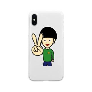 ピース Soft clear smartphone cases