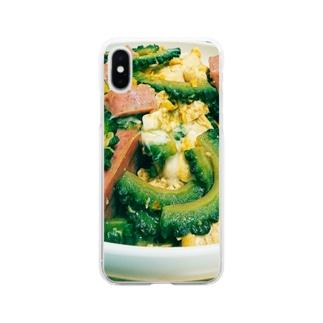 ゴーヤーチャンプルー Soft clear smartphone cases