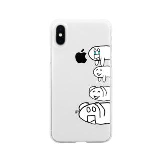 ニョキお君スマホケース Soft clear smartphone cases