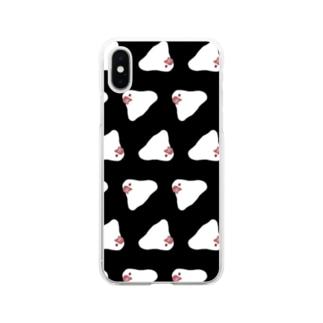 もち文鳥スマホケース Soft clear smartphone cases