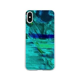 海の中を彷徨う Soft clear smartphone cases