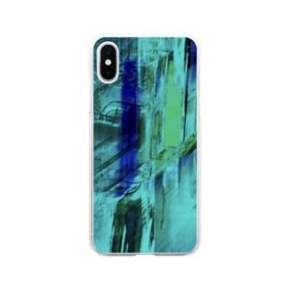 海の中を彷徨う② Soft clear smartphone cases