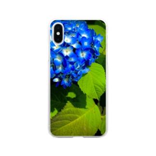 あじさい Soft clear smartphone cases