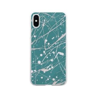えのぐ白 Soft clear smartphone cases