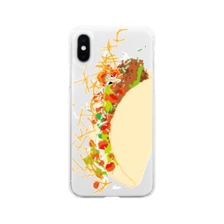 フォーリングタコス Soft clear smartphone cases