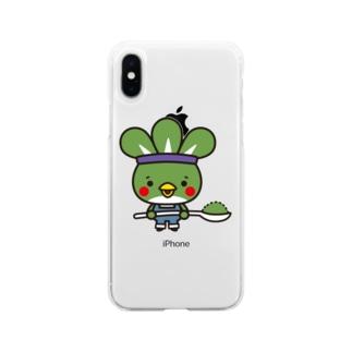粉どり君 Soft clear smartphone cases