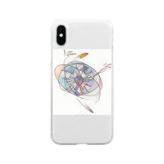 アラベスク2 Soft clear smartphone cases