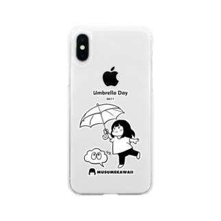 0611「傘の日」 Soft clear smartphone cases