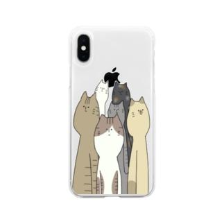 どん Soft clear smartphone cases