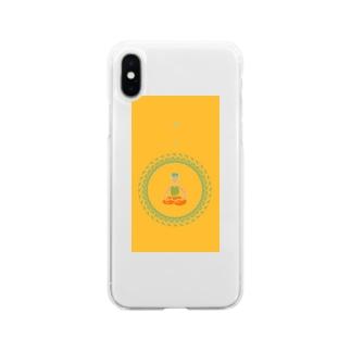 開け、悟り Soft clear smartphone cases