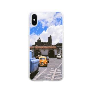 メキシコ:タスコの風景写真 Mexico: view of Taxco Soft clear smartphone cases