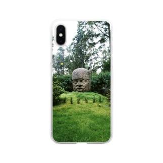 メキシコ:オルメカの巨石人頭像 Mexico: Olmec colossal head Soft clear smartphone cases