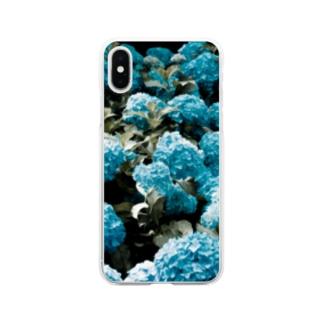 アジサイ Soft clear smartphone cases