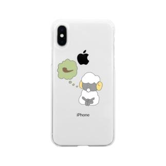 禁煙するひつじ Soft clear smartphone cases