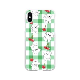 メロンソーダ Soft clear smartphone cases