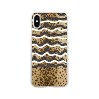 水彩屋のどっと・ゆらゆら Soft clear smartphone cases