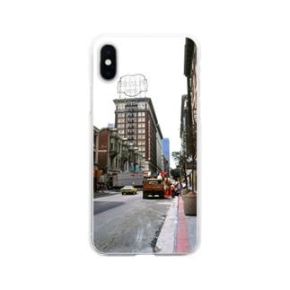 アメリカ:ロサンゼルスの風景写真 U.S.A.: view of Los Angels Soft clear smartphone cases