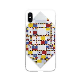 ピート・モンドリアン《勝利のブギウギ》 Soft clear smartphone cases