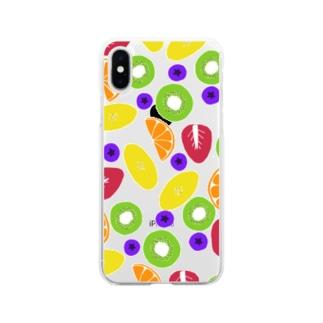 カラフルーツ Soft clear smartphone cases
