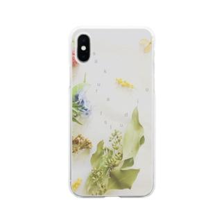 sakura f studioの丁子草とか Soft clear smartphone cases
