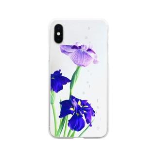 sakura f studioの花菖蒲 Soft clear smartphone cases