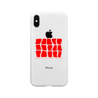 red square Soft clear smartphone cases