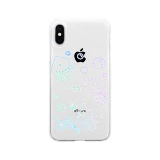 あちゃクラゲ-パステル Soft Clear Smartphone Case