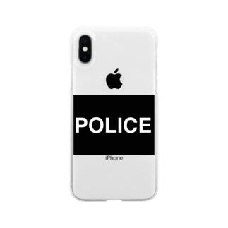 警察応援POLICEマスク Soft clear smartphone cases