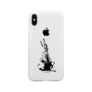 Crocochinno (Black) Soft clear smartphone cases