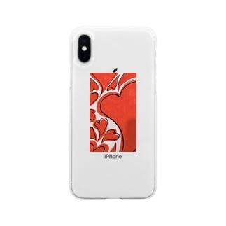 熱いハート Soft clear smartphone cases