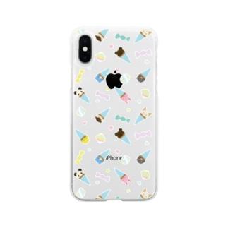 アニマルアイスクリームパーラー スマホケース Soft clear smartphone cases
